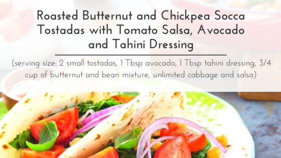 Taut Body Recipe: Roasted Butternut and Chickpea Socca Tostadas