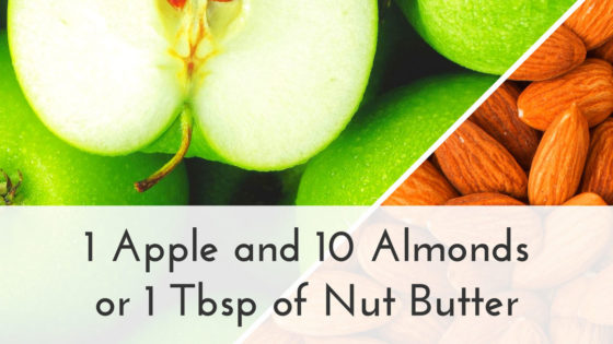 Taut Body Recipe: 1 Apple and 10 Almonds or 1 Tbsp of Nut Butter