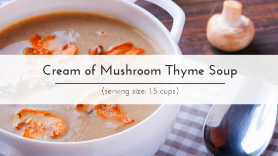 Taut Body Recipe: Cream of Mushroom Thyme Soup