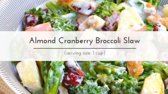 Taut Body Recipe: Almond Cranberry Broccoli Slaw